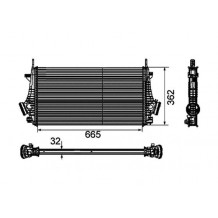 Intercooler 9-5 2010-2012 NISSENS, BEHR