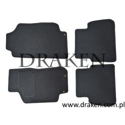 Komplet dywaników welurowych 9-5 1997-2010 CLASSIC, 5mm, czarne